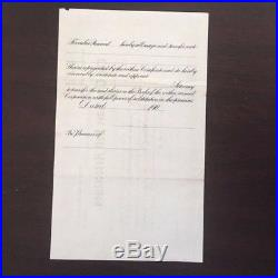 Vintage Stock Certificate Troy New York Base Ball Association League Minors 1905
