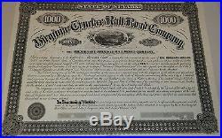 Virginia Truckee Railroad Company $1000 Bond
