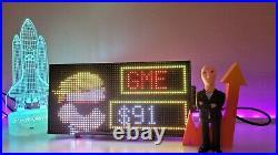 WSB Wallstreetbets Stocks Ticker LED Pixel Display
