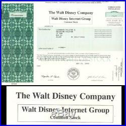 Walt Disney Internet Group 2000 Stock Certificate