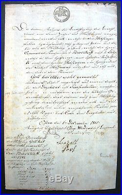 Zeche Gott hat alles wohl gemacht Mutung s Urkunde Essen Heisingen 1815 Bergbau